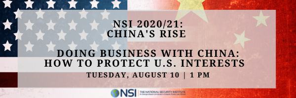Doing Business with China: How to Protect U.S. Interests Launch